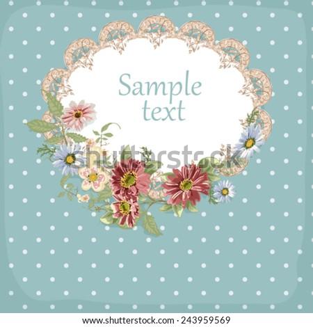 invitation card, pattern, background, floral frame - stock vector