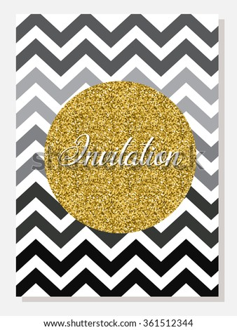 Invitation card set design gold white stock vector 361512344 invitation card set design in gold white black greeting card template for special stopboris Choice Image