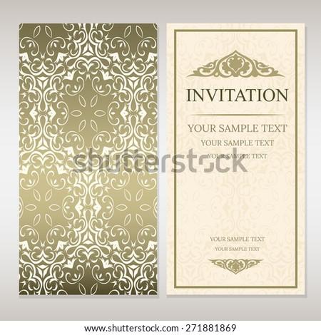 Invitation card template - stock vector