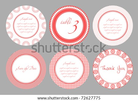 Invitation card template for wedding, birthday, anniversary - stock vector