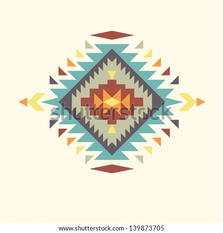 Invitation card with aztec design 4 - stock vector
