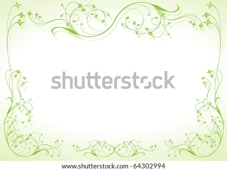 Invitation card with floral ornament - stock vector