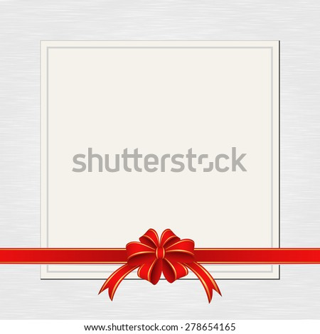 invitation card with ribbon - stock vector