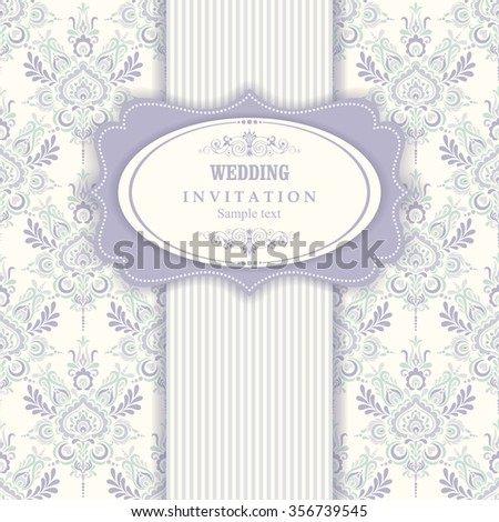 Invitation cards in an vintage-style blue and green