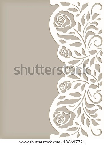 invitation cute card with rose - stock vector