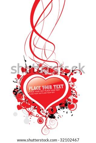 Invitation / Declaration / Flyer of Love - stock vector