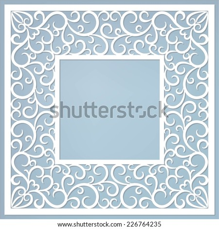 invitation frame - stock vector