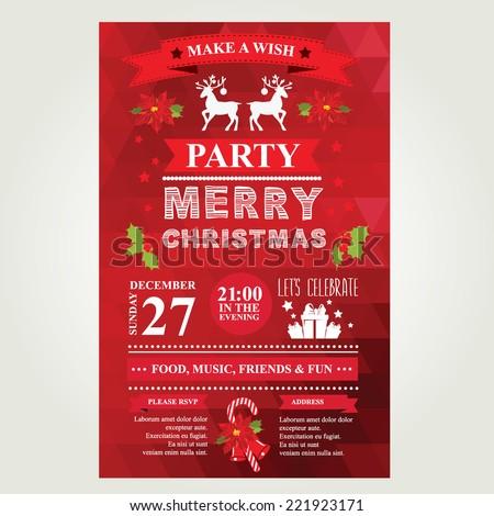 Invitation merry christmas vector illustration stock vector invitation merry christmas vector illustration stopboris Images