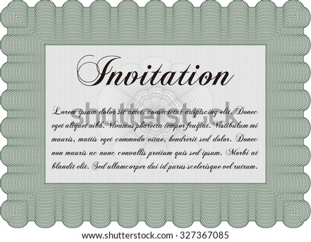 Invitation. Nice design. With complex background. Customizable, Easy to edit and change colors. - stock vector