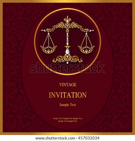 Invitation card zodiac background islam arabic stock vector invitation or card with zodiac background islam arabic indian dubai stopboris Gallery