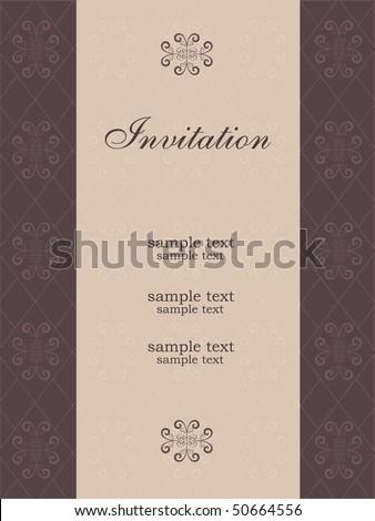 invitation template - stock vector