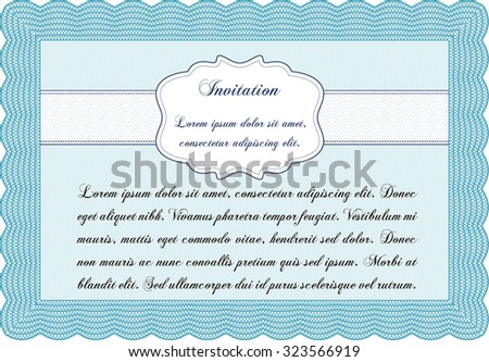 Invitation template. With linear background. Detailed.Elegant design.
