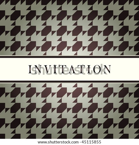 Invitation vector design pattern card
