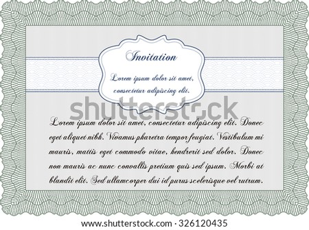 Invitation. Vector illustration.Lovely design. Easy to print.  - stock vector