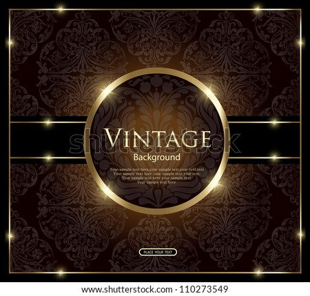 Invitation vintage card - stock vector