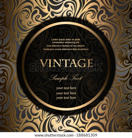 Invitation vintage frame on background - stock vector