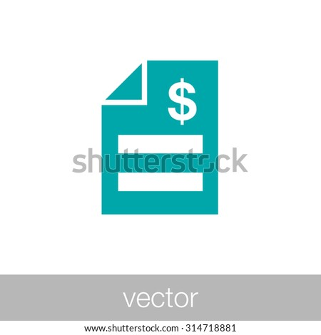 invoice concept. bill icon. - stock vector
