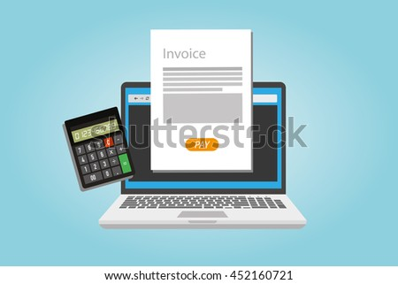 Custom Receipt Template Word Invoice Stock Images Royaltyfree Images  Vectors  Shutterstock Due Upon Receipt Of Invoice Pdf with Sample Sales Receipt Word Invoice Invoicing Online Service Pay Print Invoices