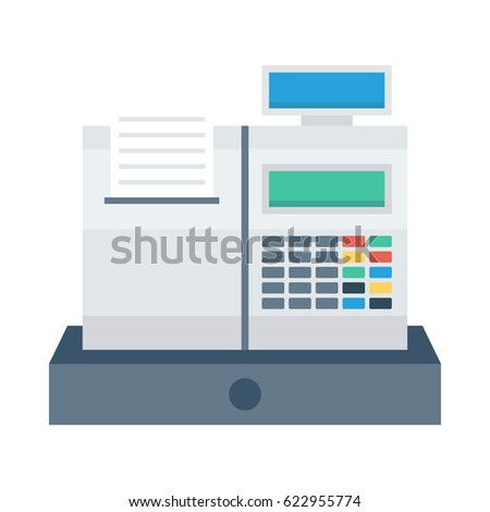 Invoice Machine Stock Vector Shutterstock - Invoice machine