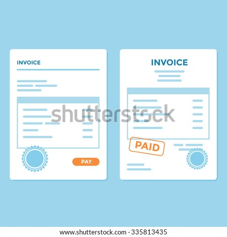 Invoice paper with two variation and style - stock vector