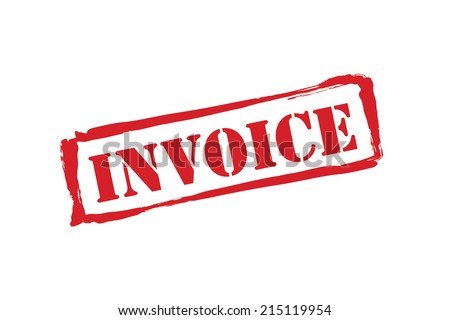 INVOICE Red Rubber Stamp Vector Over Stock Vector - Invoice stamp