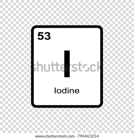 Iodine chemical element sign atomic number stock vector royalty iodine chemical element sign with atomic number chemical element of periodic table urtaz Images