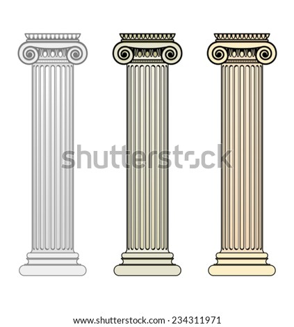 Ionic Columns - stock vector