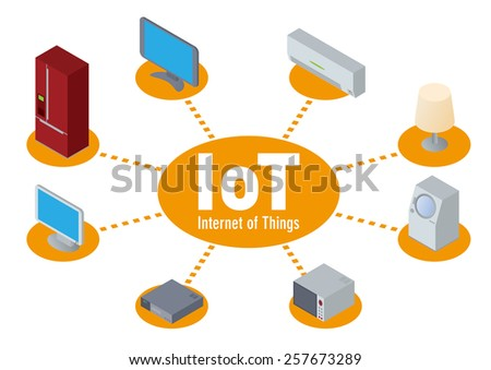 IoT(Internet of Things) image illustration - stock vector