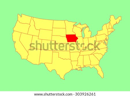 Iowa Maps Map Of Iowa ISP District Map Location Iowa Ipl Stately - Iowa usa map