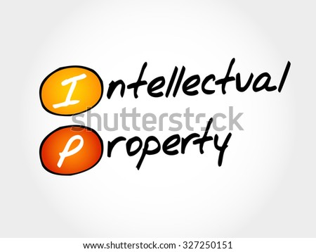 IP - Intellectual Property, acronym business concept - stock vector