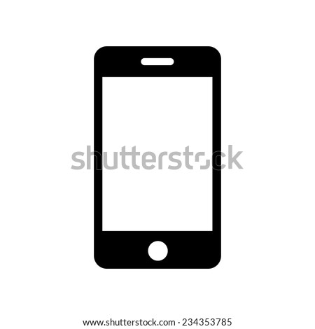 iphone icon, vector illustration - stock vector