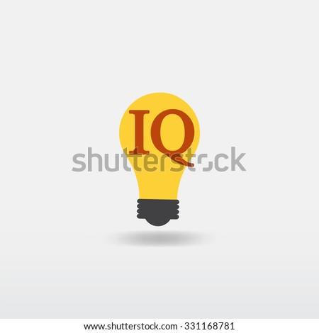 iq icon - stock vector