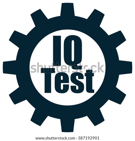 IQ Test Gear Icon, Vector Illustration.  - stock vector