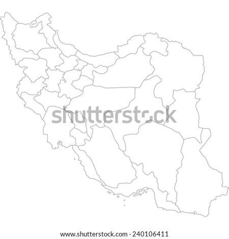 iran - stock vector