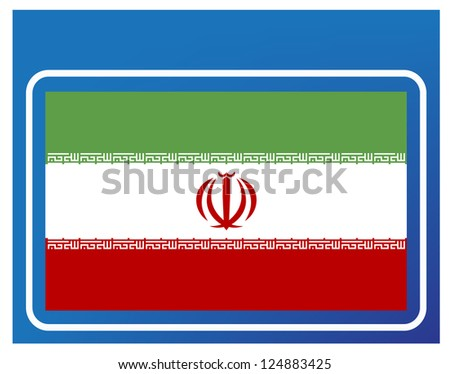 Iran flag - stock vector