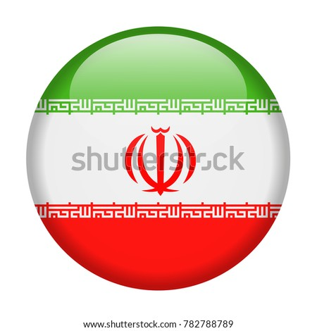 Iran Flag Vector Round Icon - Illustration