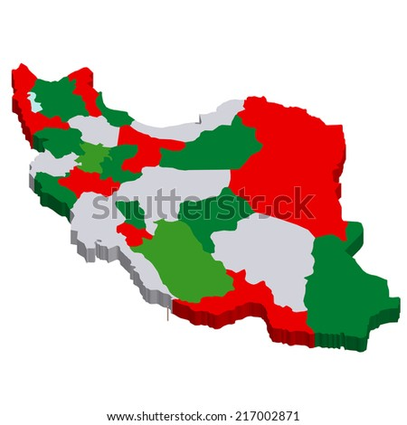 Iran map countries