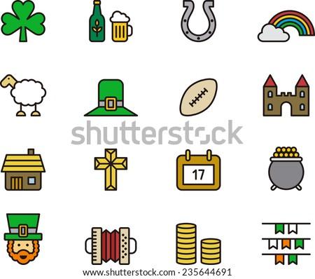 Ireland icons - stock vector