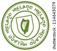 ireland stamp - stock vector