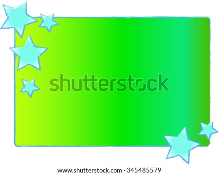 Iridescent card with stars