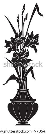 Irises - stock vector
