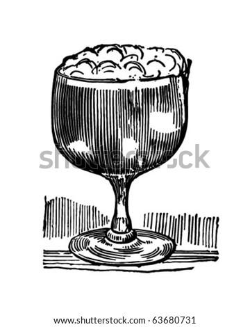 Irish Coffee - Retro Clipart Illustration - stock vector