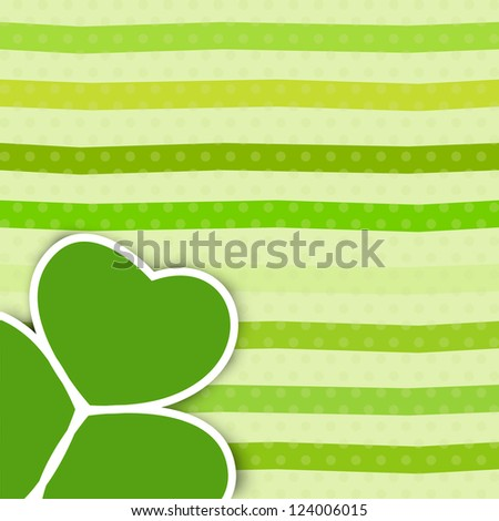 Irish four leaf lucky clovers vintage background for Happy St. Patrick's Day. EPS 10. - stock vector