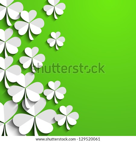 Irish shamrock leaves background for Happy St. Patrick's Day. EPS 10. - stock vector