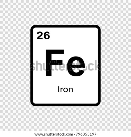 Iron chemical element sign atomic number stock vector 796355197 iron chemical element sign with atomic number chemical element of periodic table urtaz Gallery
