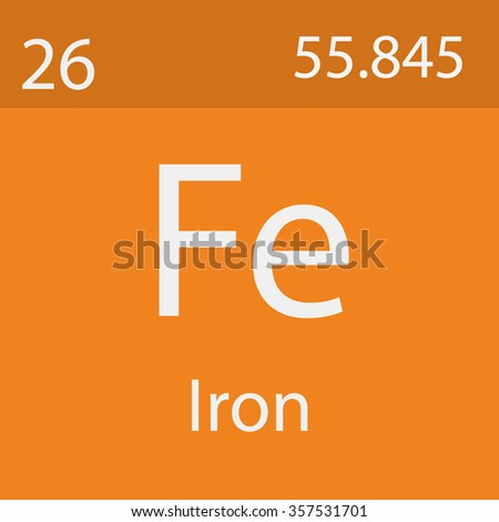 Iron Chemical Symbol Stock Vector 357531701 Shutterstock
