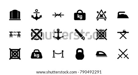 Iron table symbol stock images royalty free images vectors iron icons set of 18 editable filled iron icons gate ironing table urtaz Gallery