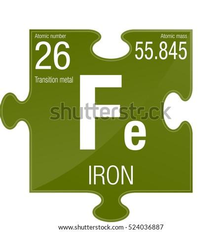 Iron symbol element number 26 periodic stock vector 524036887 iron symbol element number 26 of the periodic table of the elements chemistry urtaz Images