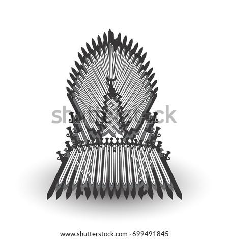 Iron Throne Silhouette Vector Geometric Trian...