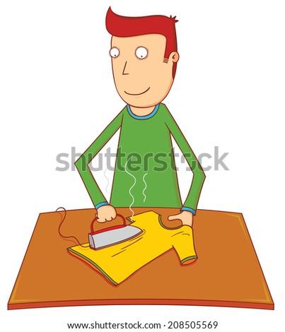 ironing - stock vector